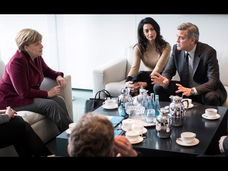 Джордж Клуни се срещна с Меркел - картинка 1