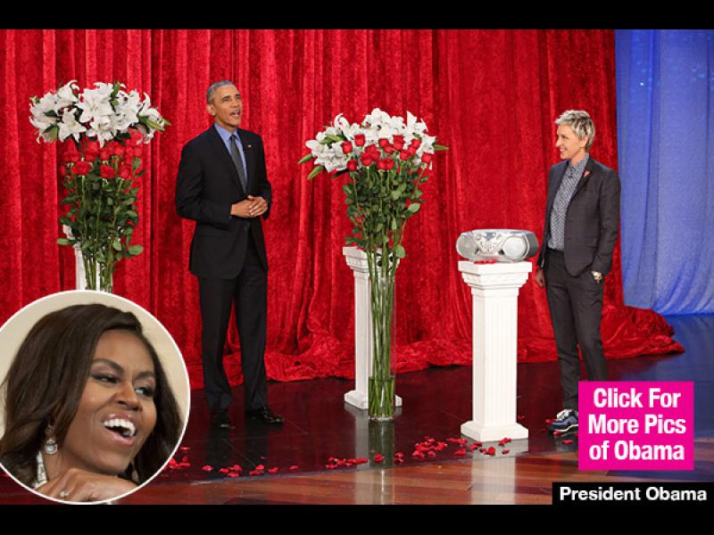 /ВИДЕО/Обама поздрави Мишел по случай празника на влюбените в ТВ ефир - картинка 1
