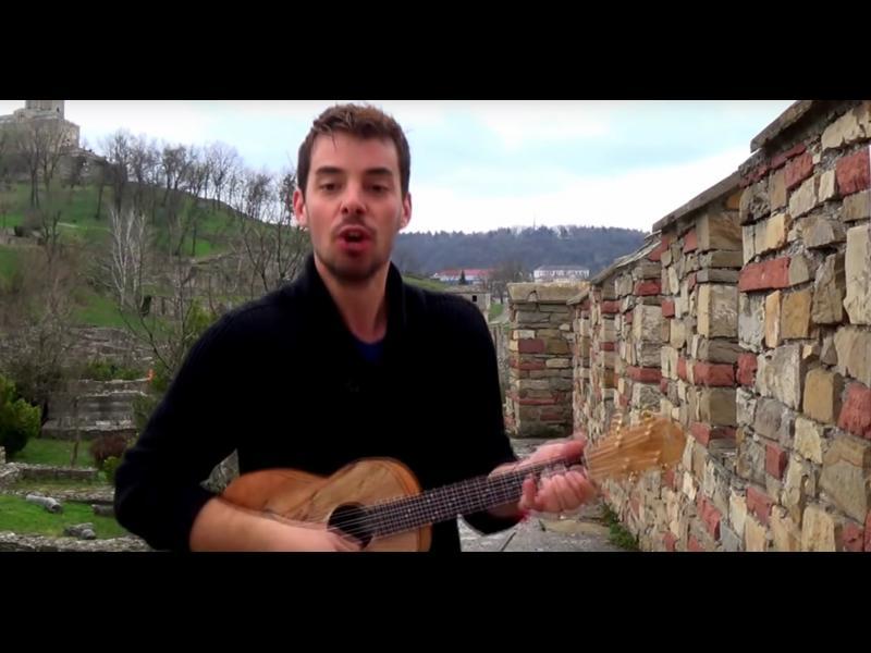 /ВИДЕО/ Французин посвети албум с песни на България
