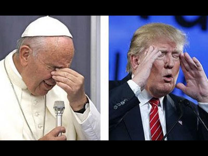 """Тръмп към Папата: """"Ако ИД нападнат Ватикана - ще се молиш аз да съм президент!"""