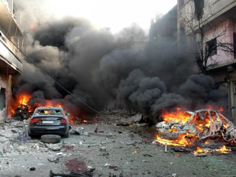 /ВИДЕО/Двоен атентат в Хомс! 46 души загинаха!