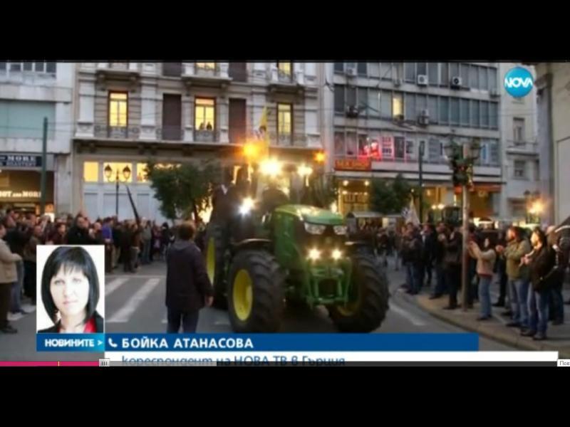 Български шофьори изпотрошиха гръцки трактори на границата - картинка 1