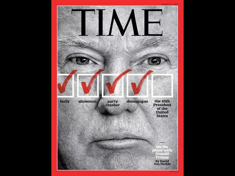 "Списание ""Тайм"" нарече Тръмп ""побойник"" - картинка 1"