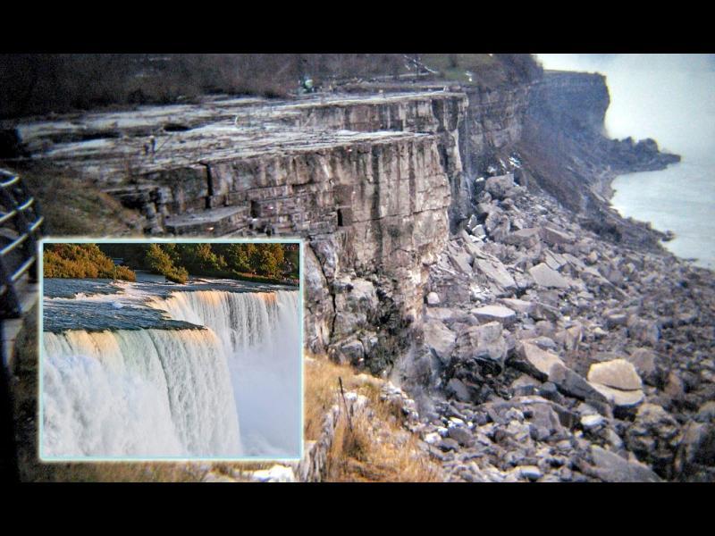 /СНИМКИ/ 1969г.- когато Ниагарския водопад бе пресушен - картинка 1