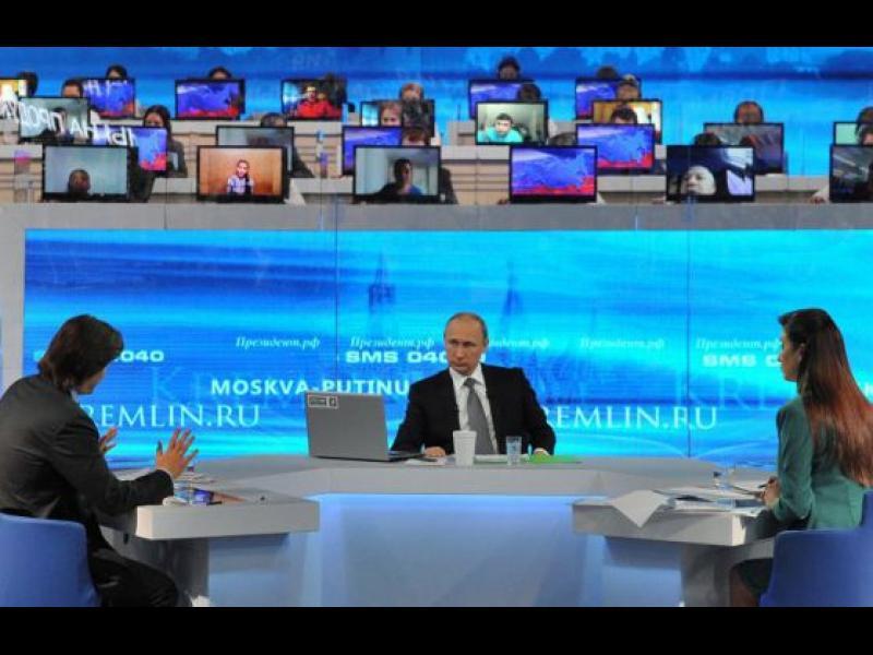 """Въпросите за """"Пряката линия"""" на Путин репетирани предварително - картинка 1"""