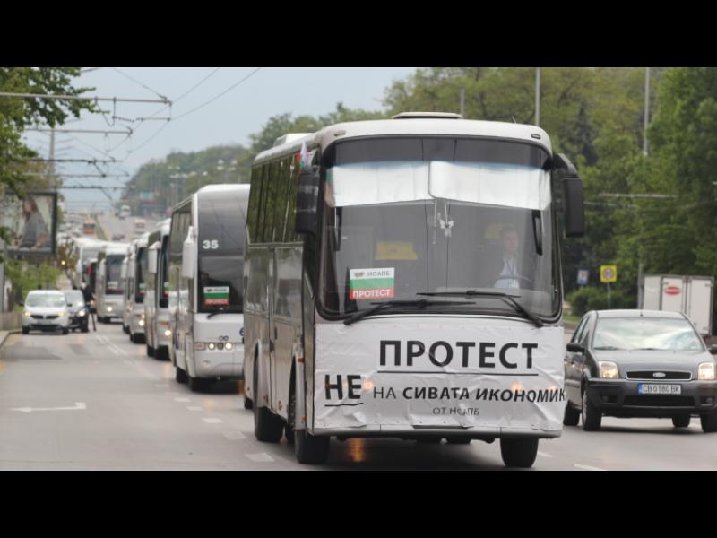 200 автобуса блокираха София - картинка 1