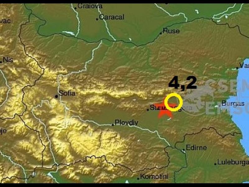 ИЗВЪНРЕДНО! Земетресение удари  с магнитуд 4,2 Сливен и Нова Загора - картинка 1