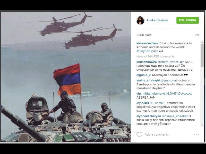 Ким Кардашиян си навлече гнева на Азербайджан - картинка 2
