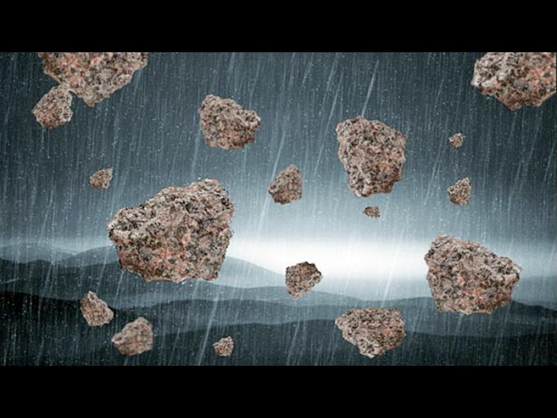 Загадката на каменни дъждове