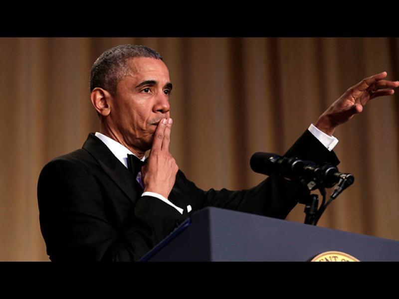 Обама се шегува с Хилари Клинтън - картинка 1