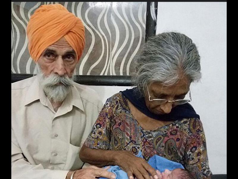 Индийка на 70 г. роди първото си дете - картинка 1