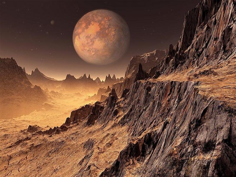 Вулкан разкрива миналото на Марс