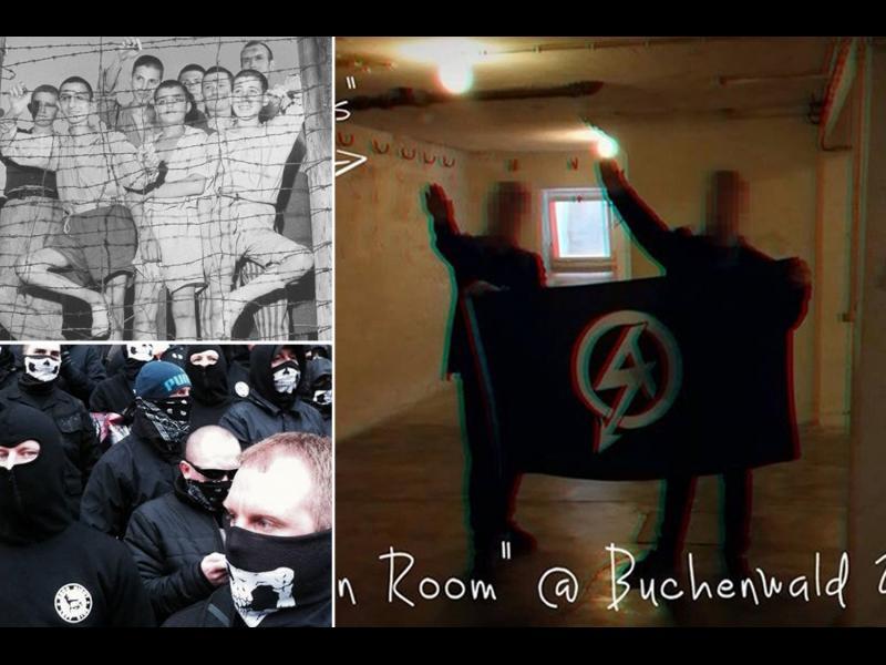 Британски нацисти отдават почит на фюрера в подземието на Бухенвалт - картинка 1