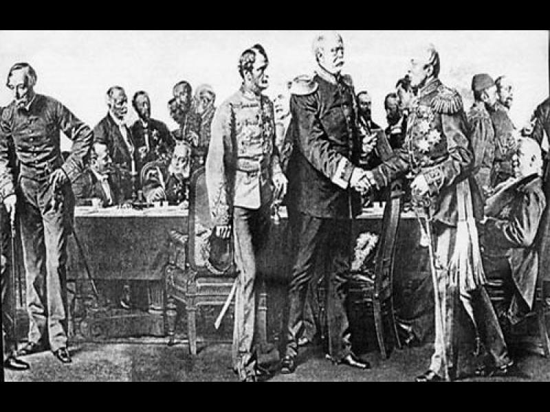 Подписването на Берлинския договор