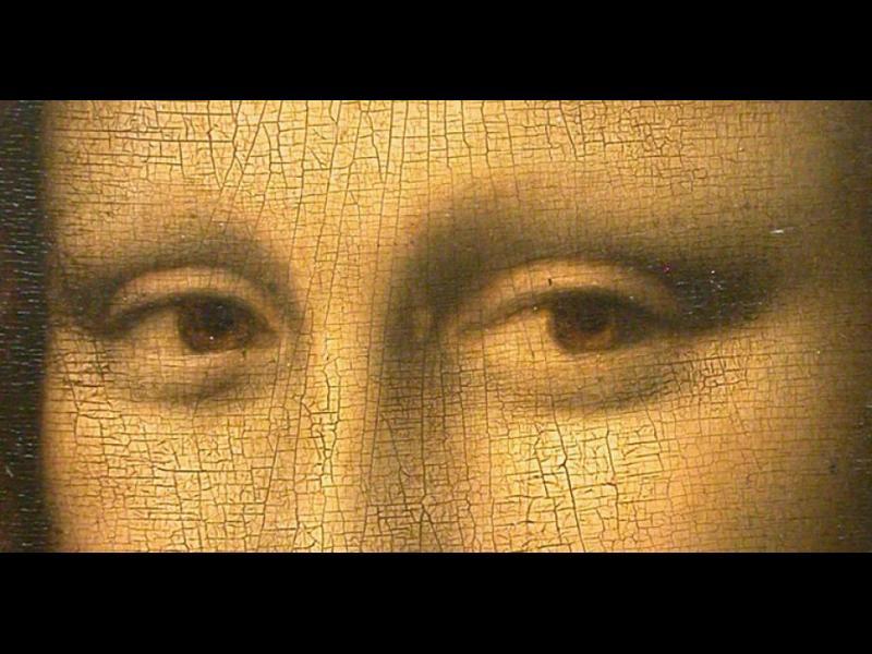 Шифърът на Леонардо е в очите на Мона Лиза