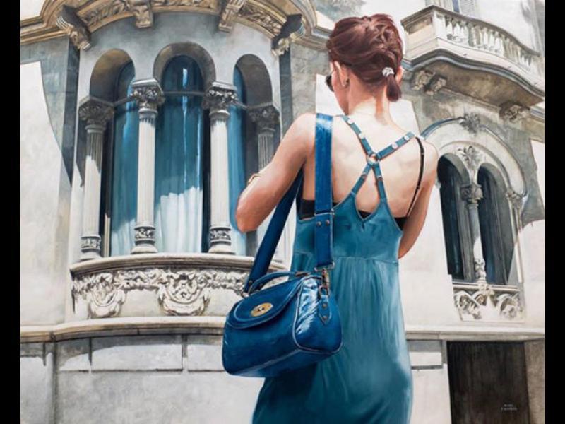 Реалистични рисунки на градски типажи по улиците на Барселона /СНИМКИ/ - картинка 1