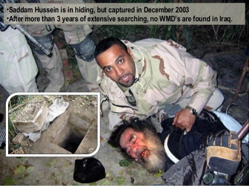 Kак заловиха Садам в дупка край Тикрит