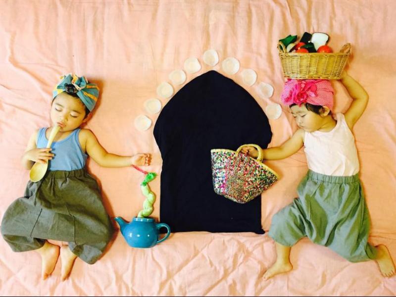 Японски близнаци, снимани в невероятни сесии