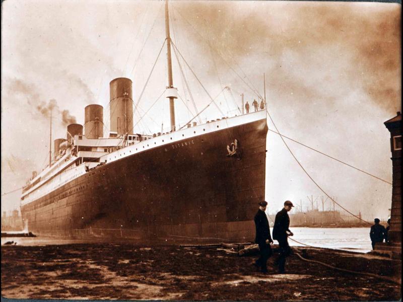 Титаник потънал заради пожар на борда, не заради айсберга