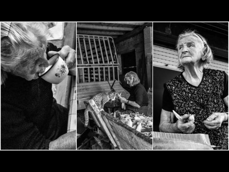Денят на една 83-годишна баба в снимки