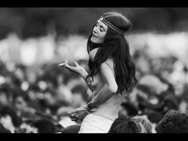 """Момичетата от легендарния фестивал """"Уудсток"""", 1969 г."""