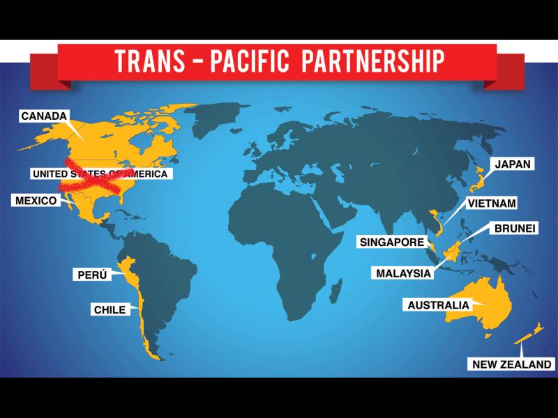 Страните от TPP търсят начини за спасението му след оттеглянето на САЩ