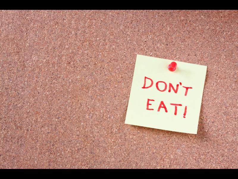 След колко часа не трябва да хапвате?