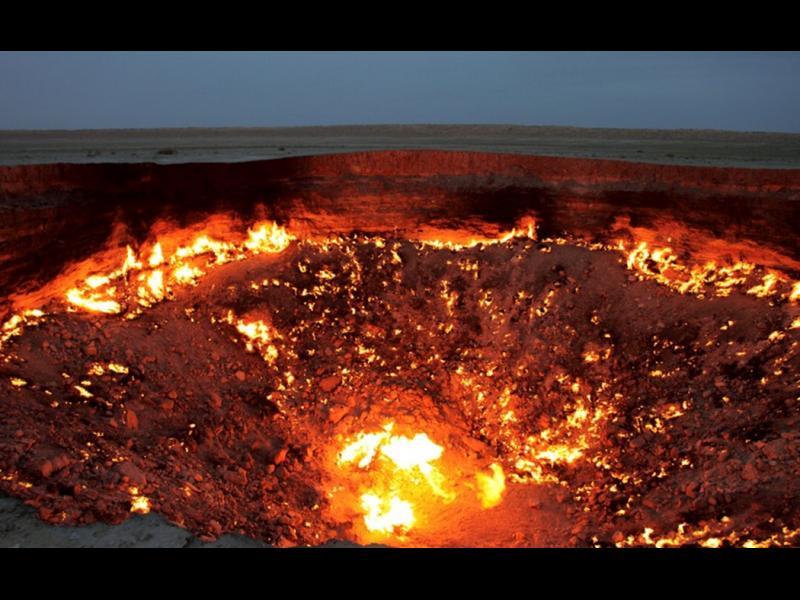 Вратата на ада гори вече 45 години
