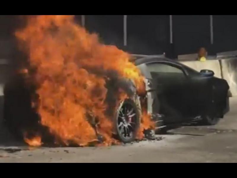 Тунинговано Lamborghini пламна като факла /ВИДЕО/