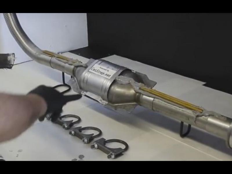 Хитро изобретение пази катализатора от крадци /ВИДЕО/ - картинка 1