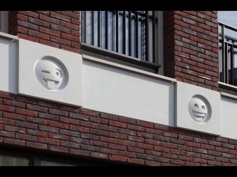 Сграда в Холандия се сдоби с емоджи иконки /СНИМКИ/