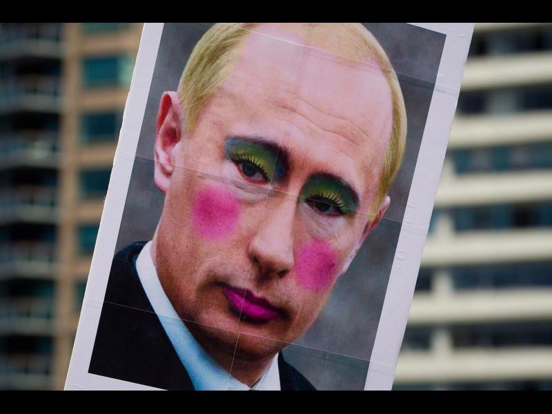 Путин, гримиран като гей: Строго забранено!