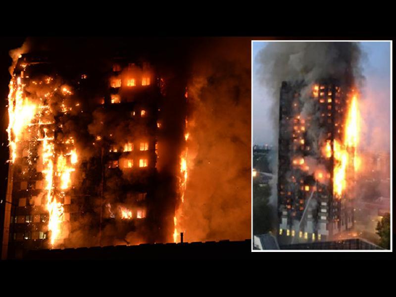 27-етажен блок изгоря в Лондон, има множество жертви и ранени  (Обновена)
