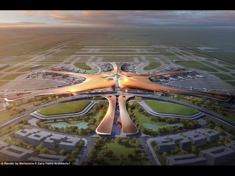 Китай строи най-голямото летище в света