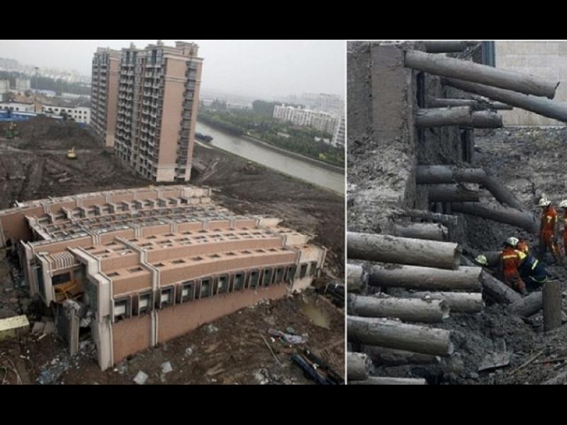 15-етажна сграда падна, без да се срути