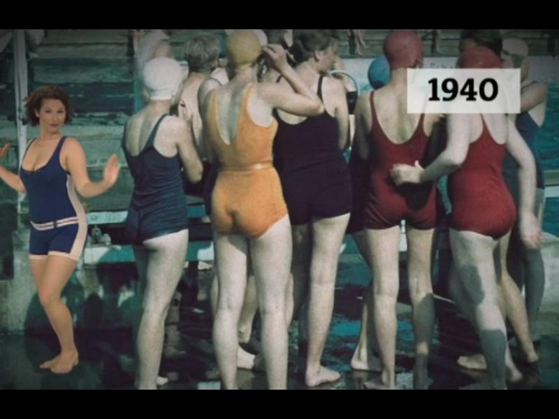 Как се променят банските от 1900 до днес (ВИДЕО)