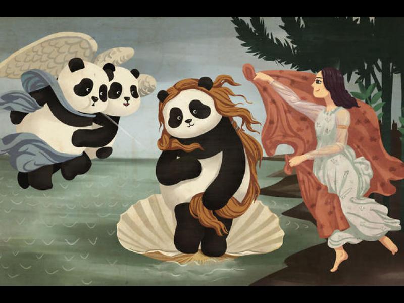 Известени картини, изглеждащи по-добре с панди