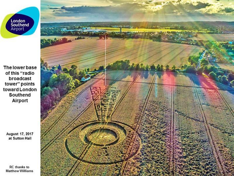 Те са между нас! Загадъчни рисунки в полето край Лондон хвърлиха в шок любителите на НЛО