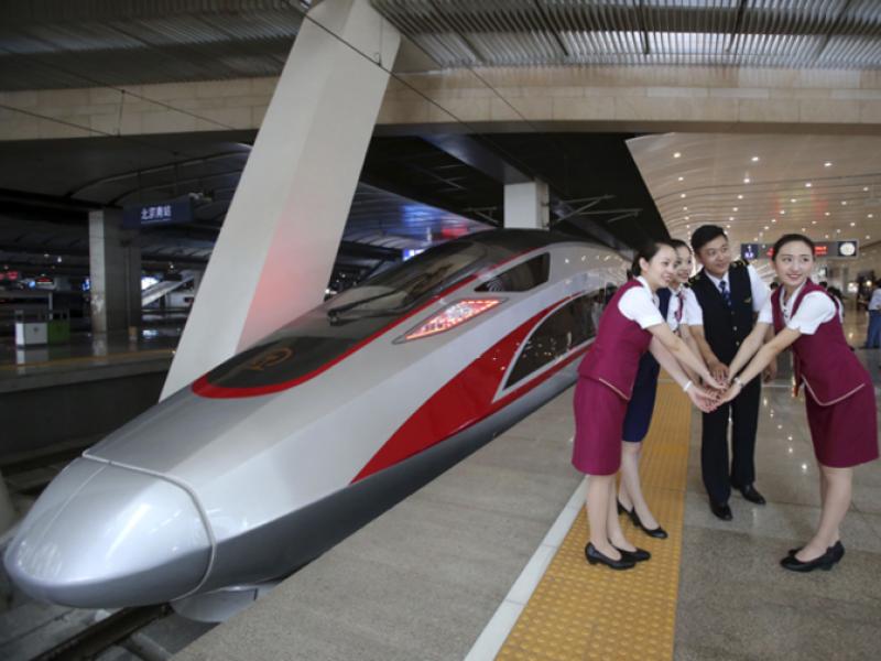 Китай пуска днес най-бързия влак в света