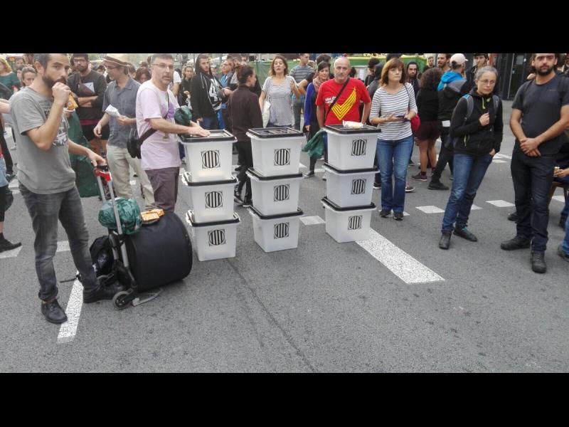 Масова стачка в Каталуния