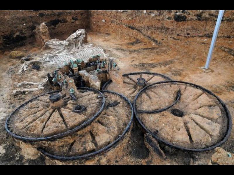 Тракийската колесница от Караново се превърна в научна сензация
