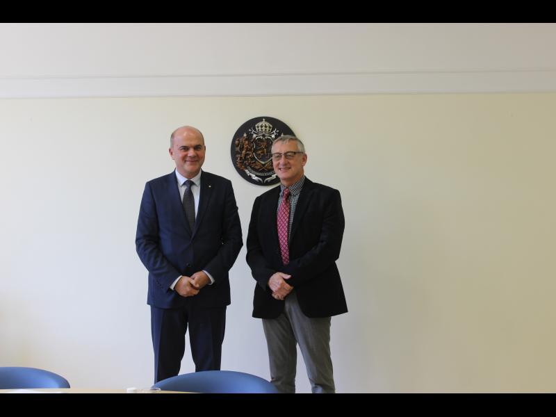 Генералният секретар на EASPD Люк Зелдерло и министър Бисер Петков обсъдиха развитието на социалната икономика в България