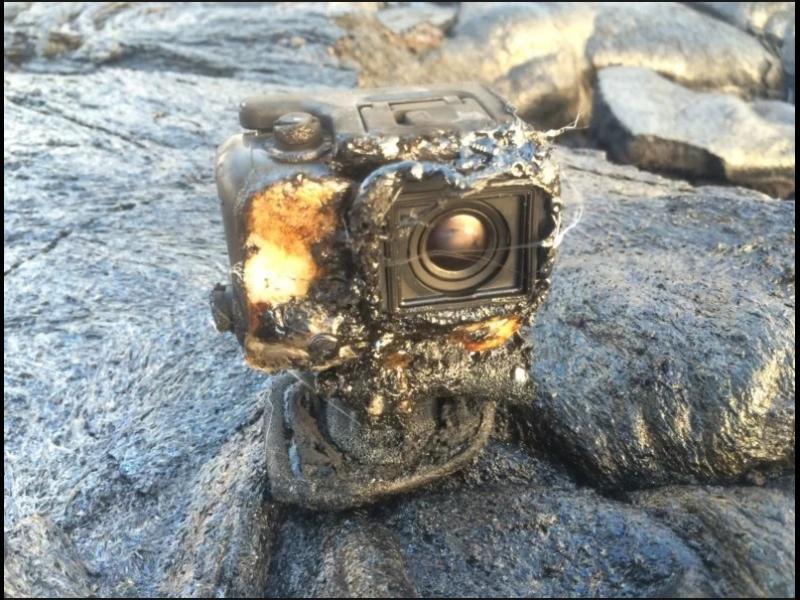 GoPro  камера оцеля в поток от лава и продължи да снима!