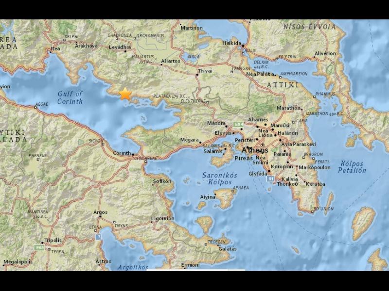 4,9 по Рихтер разтърси Атина и Централна Гърция