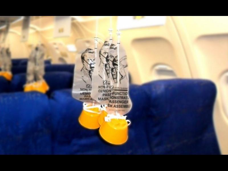 За колко минути стига кислородът в маската в самолета?