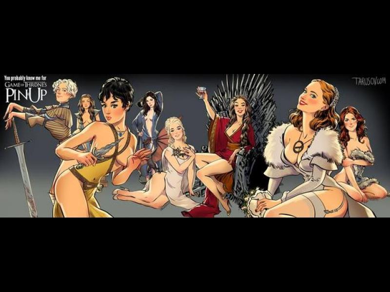 """Героините от """"Игра на тронове"""" като pin-up момичета"""