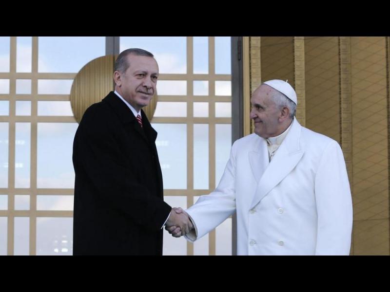 Папата и Ердоган обсъдиха Близкия изток и тероризма