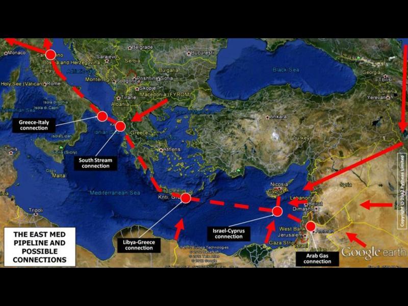 Израел пуска 2000 км газопровод до Европа