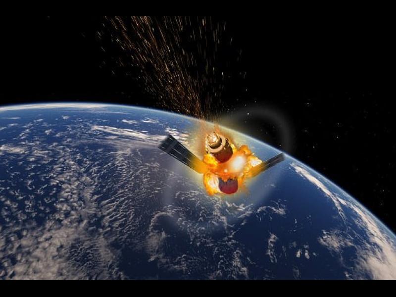 """Край на страховете: Станцията """"Тянгун-1"""" изгоря над Тихия океан"""