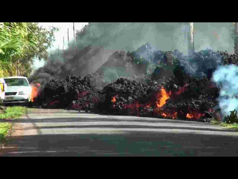 Огнена лава залива Хавай (снимки и видео)